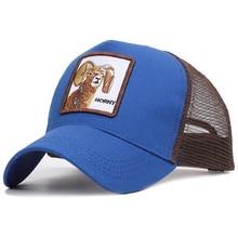купить Animals Embroidery Summer Branded Baseball Cap Men Women Dad Cap Bone Snapback Breathable Mesh hatsUnisex sun hat Hip Hop cap по цене 309.06 рублей