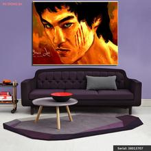Bruce Lee Portrait Classical oil Painting Drawing art Spray Unframed Canvas kitchen wire kitchen landscape wine wax38013707