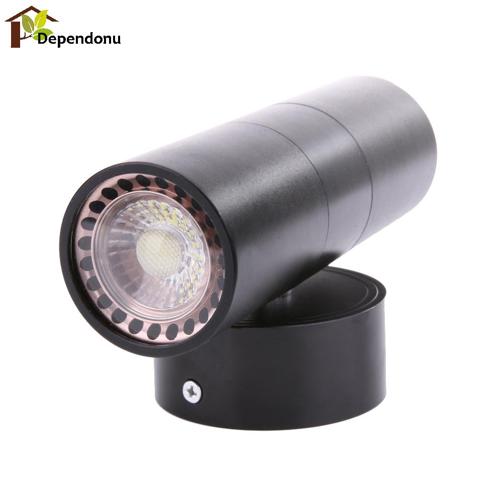 AC220-240V LED Wall Light Waterproof IP65 Stainless Steel Double Wall Light Up Down GU10 Indoor Outdoor Wall Light Black black led wall light waterproof ip65 stainless steel up down gu10 double wall lamp indoor outdoor wall lamp ac 85 265v