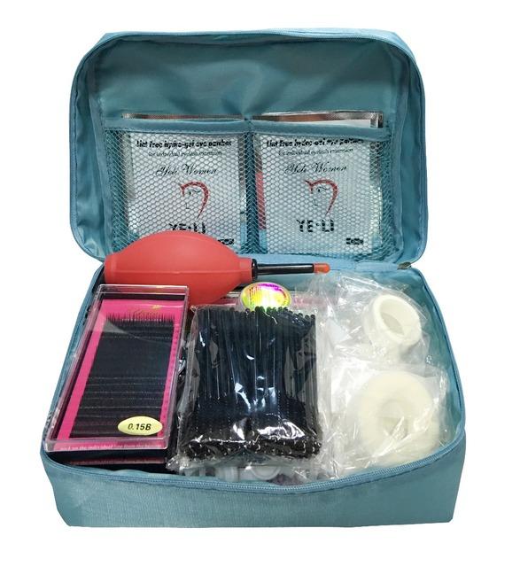Nutural de Herramientas de Maquillaje profesional kit de herramientas de extensión de pestañas falsas individuales pestañas de visón falso Pestañas Maquillaje Herramientas set