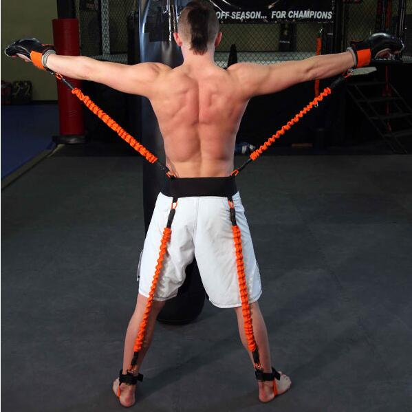 New boxing taekwondo fencing training resistance rope black belt training explosive force rebound blue elastic rope 130lbs-150lb target kick pad for taekwondo training black red