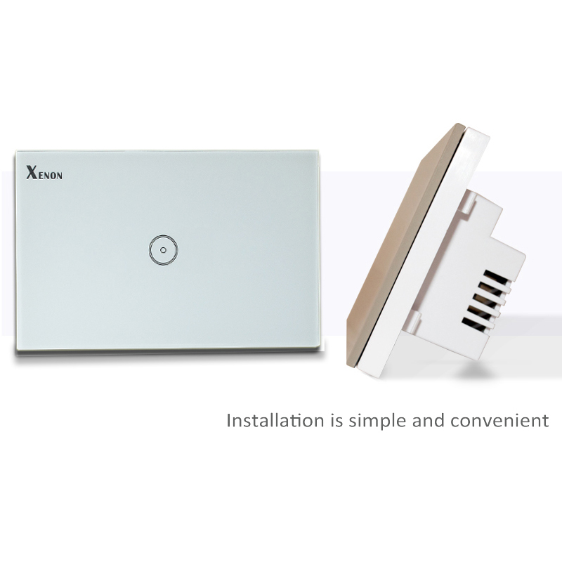 Xenon Wall Switch Work With Amazon Alexa Smart Home Wi-Fi Switch button Glass Panel 1-gang Ivory US Touch Light Switch panel manufacturer xenon wall switch 110 240v smart wi fi switch button glass panel 1 gang ivory white eu touch light switch panel