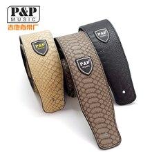 P & P PU Gitarrengurt Für Akustische Elektrische Bass Geprägte Einstellbare 150 cm + 5 stücke plektren