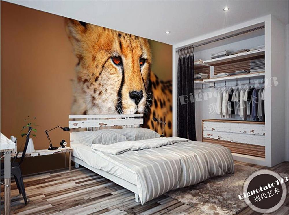 3D wallpaper/custom photo wall paper/Only beautiful wild cheetahs in Africa/TV/sofa/Bedding/KTV/Hotel/living roomchildren/ philips 234e5qsb