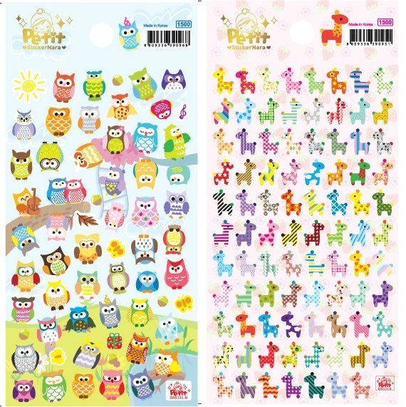1 sheet new cute owl girrafe scrapbooking stickers paper craft tags for children moblie diary love