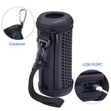 Купить с кэшбэком 2018 Newest PU Carrying Sleeve Travel Pouch Bag Protective Cover Case for JBL Flip 4 Flip4 Waterproof Portable Bluetooth Speaker