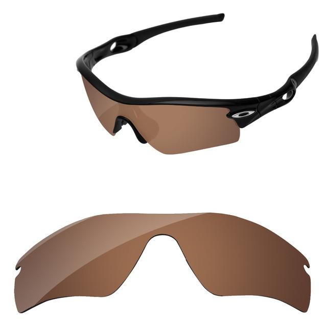 1f8b6fb3fe Marrón cobre polarizadas lentes para Radar camino gafas de sol marco 100%  UVA y UVB
