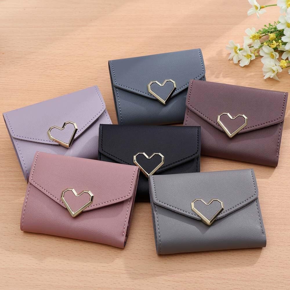 Koreanska stil kvinnor plånböcker rosa kort plånbok för - Plånböcker - Foto 2