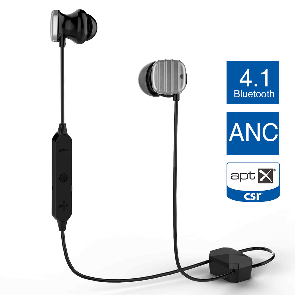 Original Cowin HE8D Active Noise Cancelling Bluetooth Earphone Running Bass Wireless Earbuds Built in Mic APTX for phone Headset ideausa v205 neckband in ear earphone sweatproof active noise cancelling wireless bluetooth headphone for sports built in mic