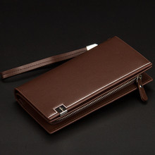 Business Men Solid Leather Long Wallet (2 colors)