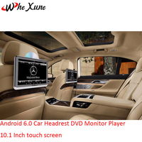 WHEXUNE 2PCS Android 6.0 Car Headrest DVD Monitor Player 10.1 Inch touch screen With WIFI/HDMI/USB/SD/Bluetooth/FM Transmitter