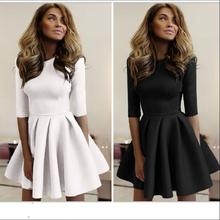 New 2018 Sweet Short Sleeve O -Neck Women Bubble Cute Dress Fashion Summer Club Party Dresses For Clothing Vestido