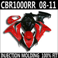 High quality parts for 08 11 HONDA cbr1000rr fairings red white black CBR 1000 RR 2008 2009 2010 2011 fairing set GJT85