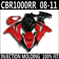 High quality parts for 08 11 HONDA cbr1000rr fairings red white black CBR 1000 RR 2008 2009 2010 2011 fairing set GJT85