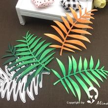Alinaccraft металлические режущие штампы, вырезанные в виде листьев гибискуса, Весенняя ветка, дырокол для скрапбукинга, бумага, ремесло, карта, альбом, нож, художественный резак, трафарет