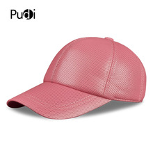 Aorice HL013-W  womens real leather baseball cap hat girls brand new caps hats red pink color