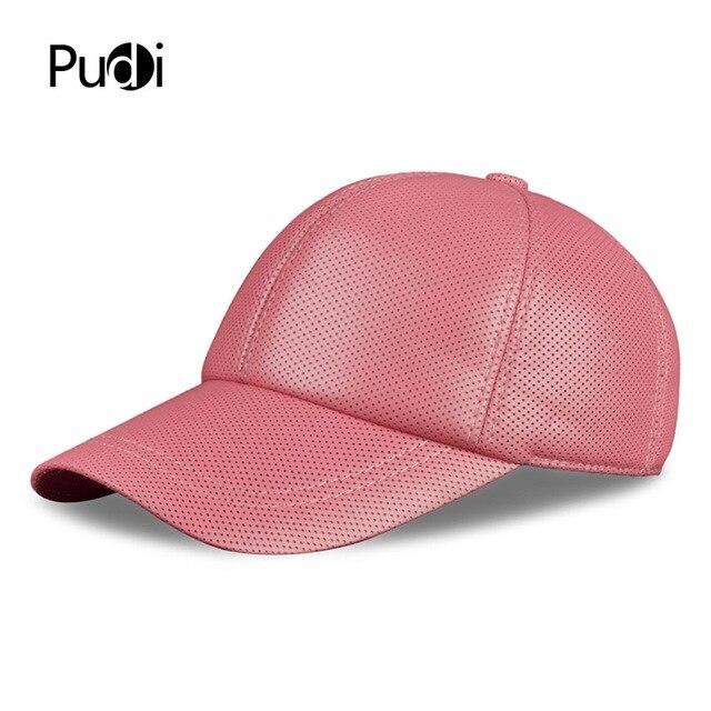 Pudi HL013-W women s real leather baseball cap hat girl s brand new leather  baseball caps d6ccf3d40d7