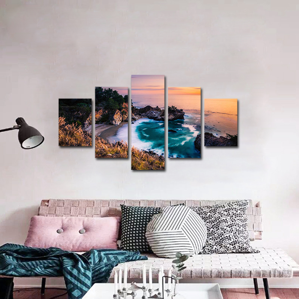 Unframed Canvas Painting Reef Coastal Spray Photo Picture Prints Wall Picture For Living Room Wall Art Decoration