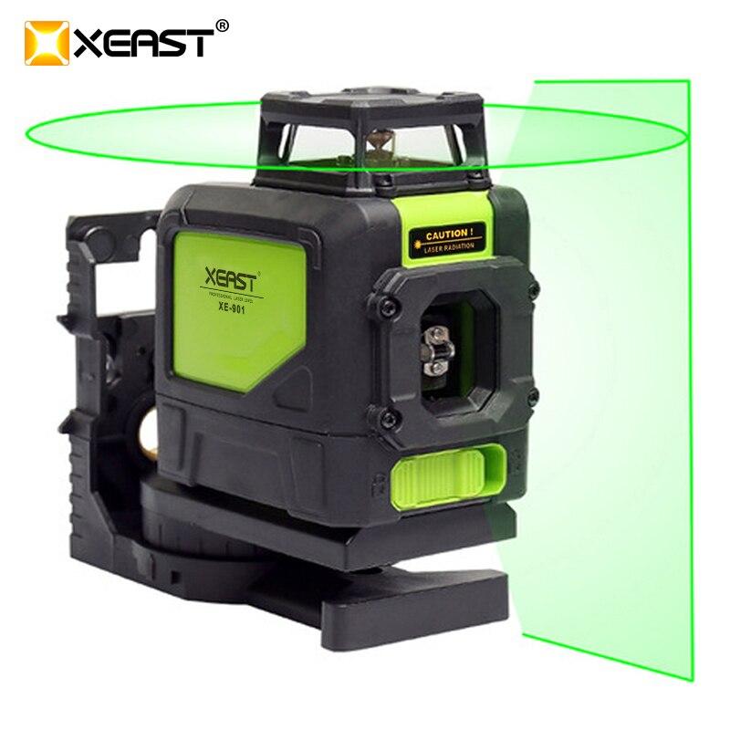 2017 NEW XE 901 5 Lines Laser 4H 1V 3D Green Laser Levels Self Leveling Super