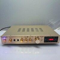 AV 298BT 5198 tubo tarjeta USB construido en Bluetooth profesional audio en casa karaoke digital de alta amplificador de potencia|Amplificador| |  -