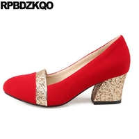 Bridal Red 10 42 Size 4 34 Glitter Medium Chunky Ladies Shoes For Wedding Bling Sparkling