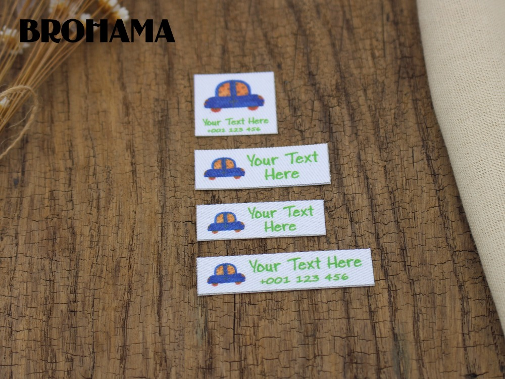Custom name label, childrens clothing label, ironing label, boy and girl tag, Purple Cross (L32)