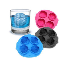 Funny Brain Shape Freeze Ice Cube Creative  Cookies Chocolate   Silicone Tray Mould Bar Party Kitchen Accessories