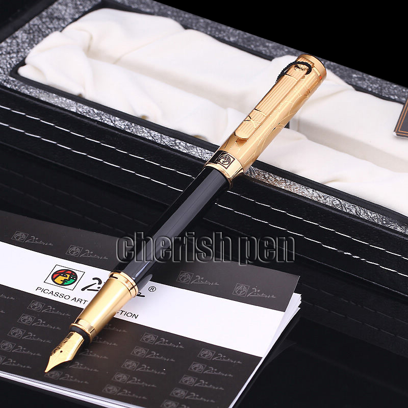Wholesale Picasso 902 Luxury 0.5 Ink Business iridium pen/Metal/Brand/Gift/Calligraphy Fountain Pen Free Shipping Pens hero 310b metal fountain pen