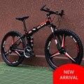 Складной горный велосипед  новый бренд  рама из углеродистой стали 21/24/27 скорости  размер колес 26 дюймов  дисковый тормоз  для активного отды...