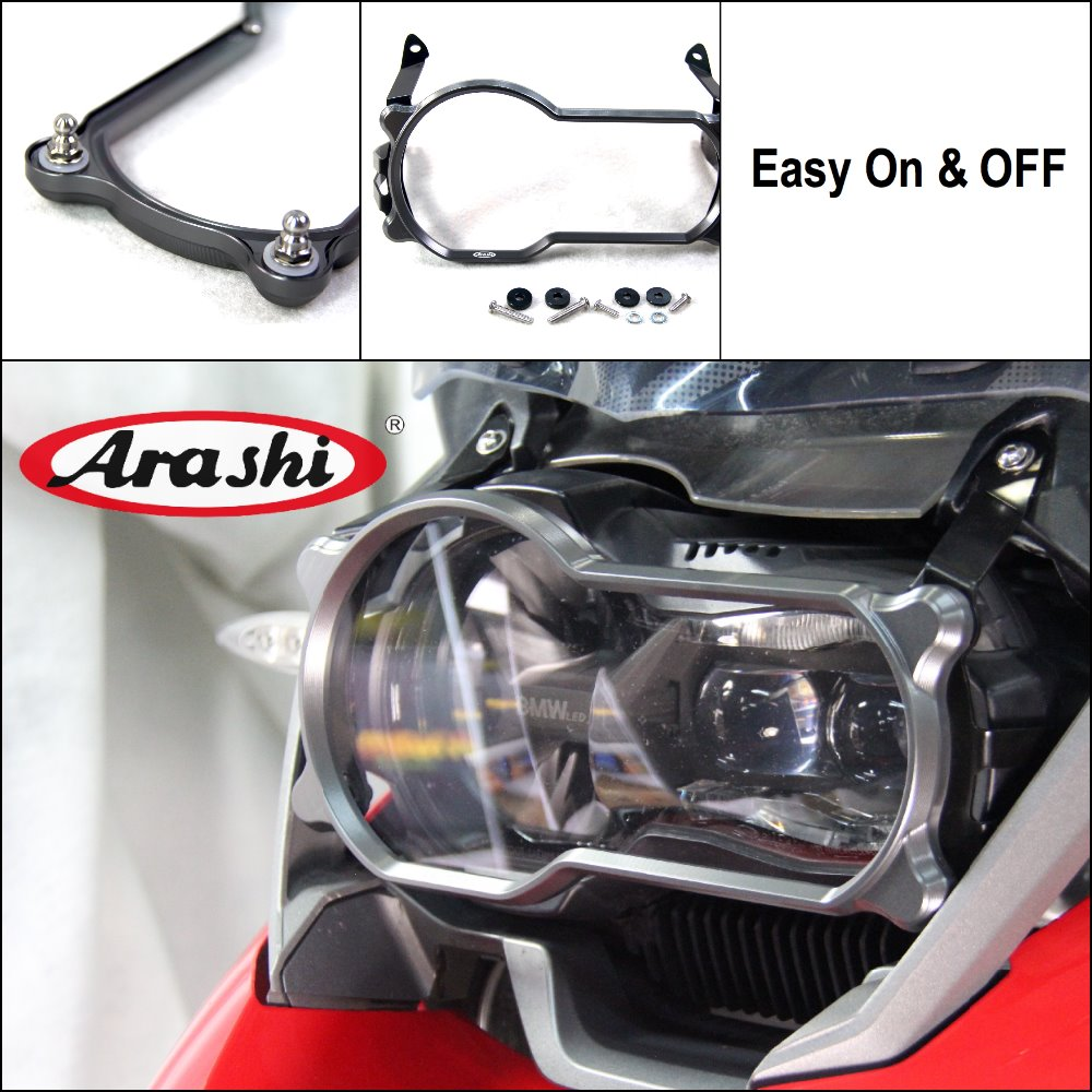 Arashi 2018 Exclusive Sale PC Lense Headlight Protector For BMW R1200GS 2013-2018 18 17 CNC Cover R 1200GS GS Guard Clear Cover цена