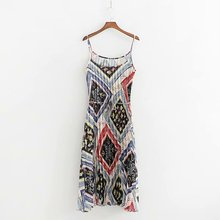 Summer Women Sling Dress 2019 Vintage Sexy Fashion Medium and long Section Length Sleeveless sling Satin Printing