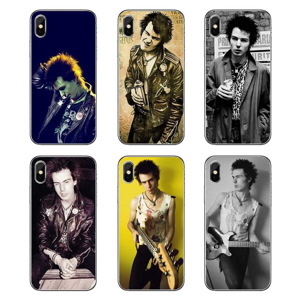 Sex Pistols Sid Vicious Poster Print For LG G7 Q6 Q7 Q8 Q9 V30 X Power 2 3 For OnePlus 3T 5T 6T Transparent Soft Shell Covers