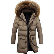 2016 4 Цвет Длинные Зимняя Куртка Мужская Одежда Большой Меховой с капюшоном И Пиджаки Повседневные Куртки И Хлопка Парки Мужской Большой Napapijri пальто