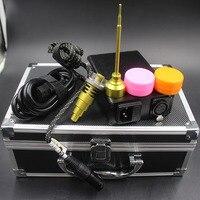工場価格電子enailキット110ボルト220ボルト黒温度コントロールボックス用水パイプガラスパイプクリスマスギフ