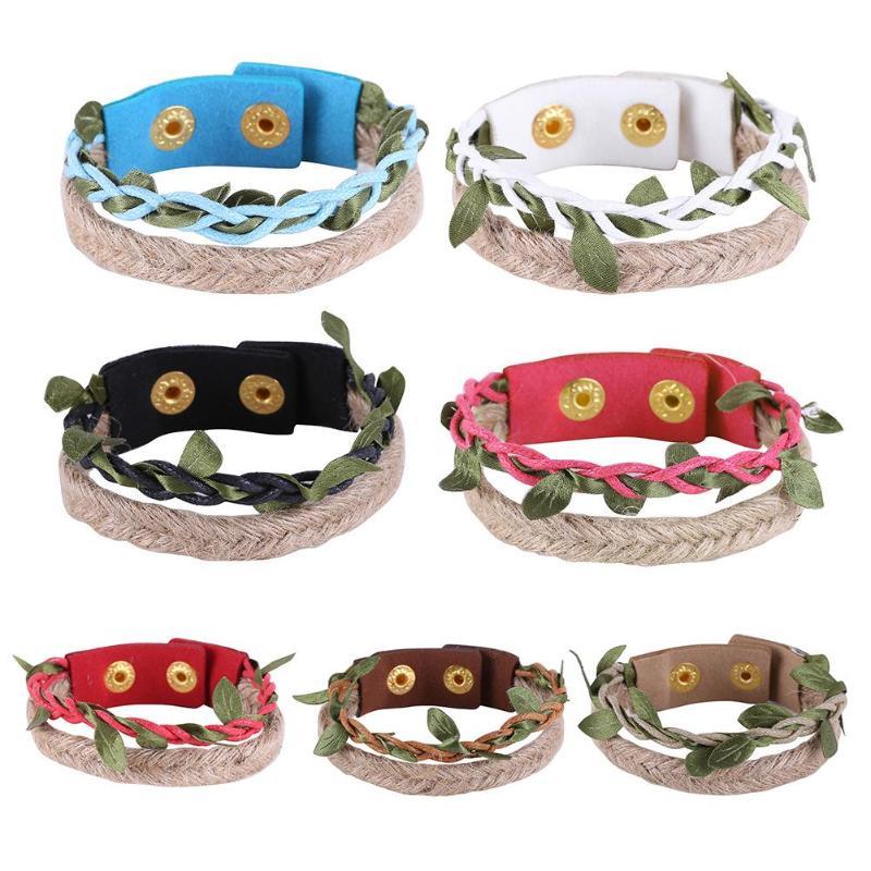 Ethnic Style Bracelets Multi Layer Braided Leather Bracelet Weave Charm Bracelets Bangle Gift