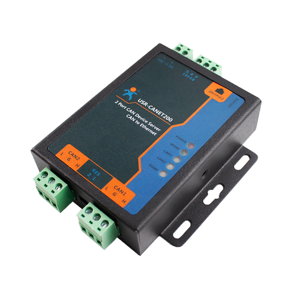 USR-CANET200 Industrial CAN to Etherent RS485 Converter Integrated CAN Port Relay Network Server Support TCP/IP Protocol Q177