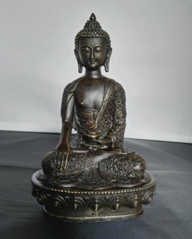 8 Old Tibet Tibetan Buddhist Bronze Shakyamuni Buddha Statue8 Old Tibet Tibetan Buddhist Bronze Shakyamuni Buddha Statue