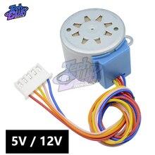 Умная электроника 28BYJ-48 шаг постоянного тока мотор-редуктор переменного тока 4 этап Шестерни шаговый двигатель для arduino