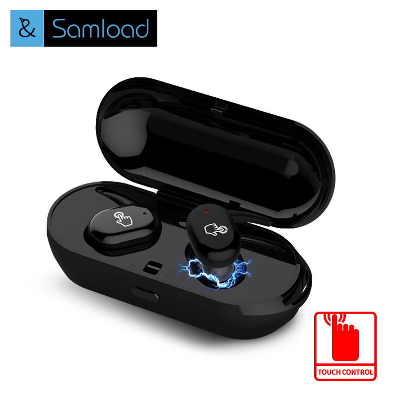 Samload TWS Bluetooth Earbuds IPX5 Stereo In-Ear Touch Control Headsets Sports Earphone MIC Wireless Earpiece With Charging Box high quality laptops bluetooth earphone for msi gs60 2qd ghost pro 4k notebooks wireless earbuds headsets with mic