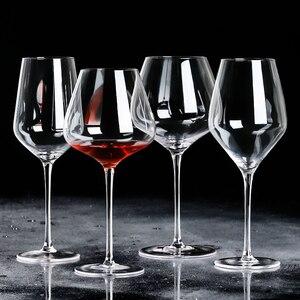 Ультратонкое бордовое красное вино ручной работы, бессвинцовое Хрустальное стекло, бокал большой вместимости, бордовое бокал для вина, пит...