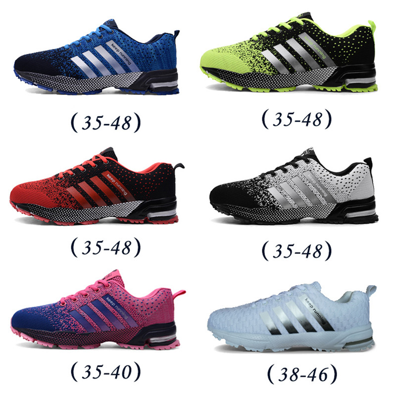 Fashion Men's Running Shoes Breathable Sport Sneakers Casual Athletic Big Size
