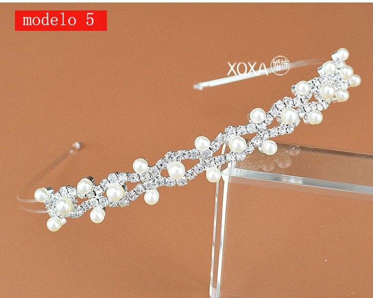Moda feminina strass cristal cabeca bandagem no cabeca coroa Tiara de noiva de cabelo acessorios (13)