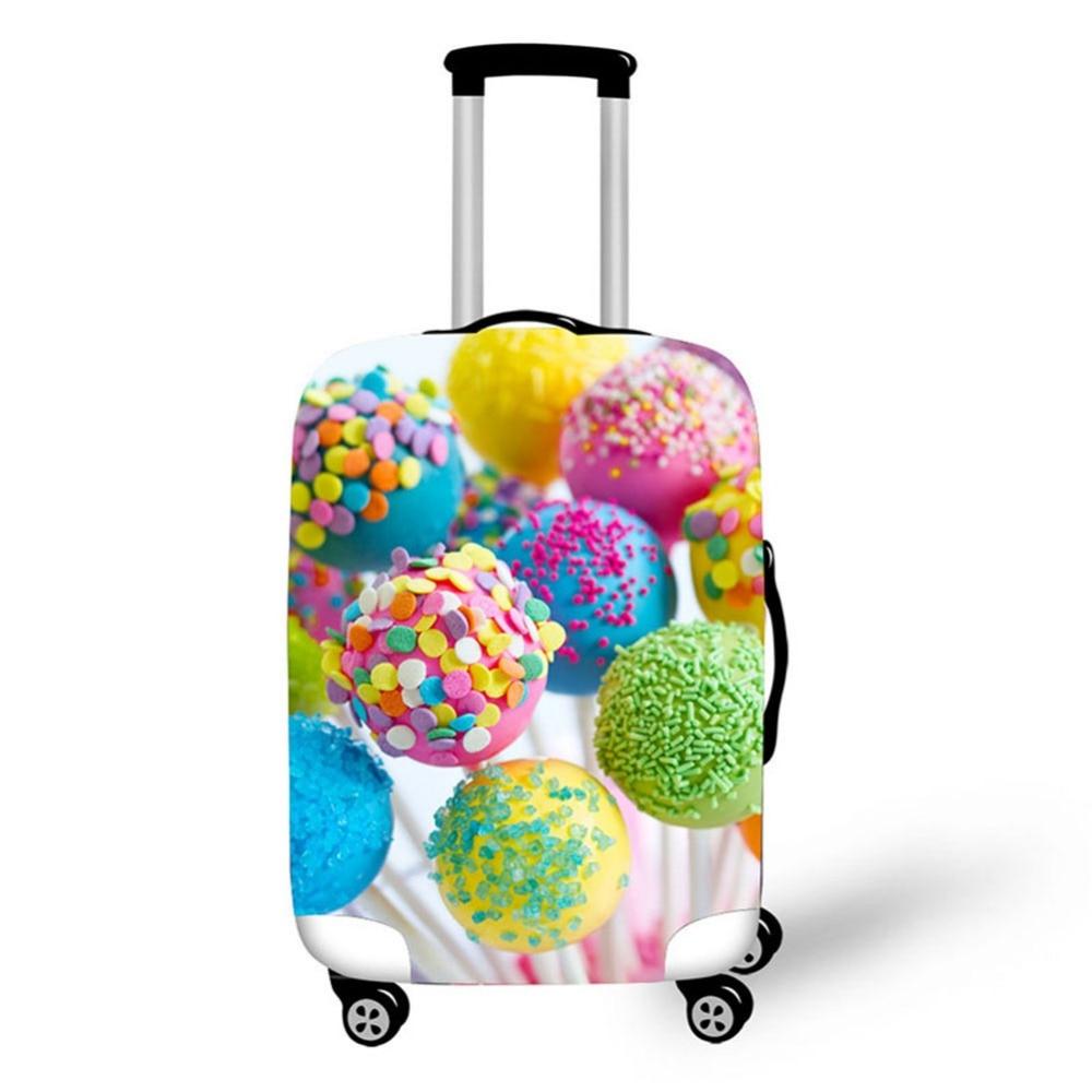 3D Cake mat mönster Skriv ut rese bagage resväska skyddshölje - Resetillbehör - Foto 3