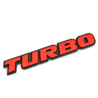 Car Sticker Emblem Badge Turbo Aluminium Red Tuning Auto Car Styling Accessories