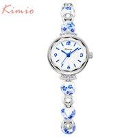 New Fashion Kimio Chinese Style Luxury Watches Women Quartz Dress Bracelet Watch Waterproof Ceramics Ladies Wristwatch