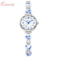 New Fashion Kimio Chinese Style Luxury Watches Women Quartz Dress Bracelet Watch Waterproof Ceramics Ladies Wristwatch