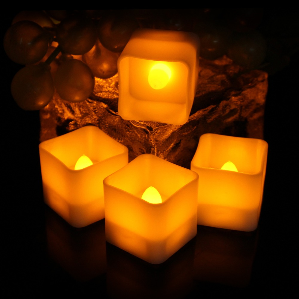 5007071244_1650456754  12pcs Flickering LED Candles Sq. Pillar Faux Candle Electrical Tealight for Residence Decor Wedding ceremony Events HTB1a4sIjYZnBKNjSZFKq6AGOVXaQ