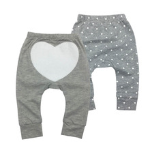 Newborn Harem Pants 2piece/lot Cotton PP Pants Baby Boys Girls Cotton Trousers Autumn New Baby Pants Baby's Clothing 0-24M недорого