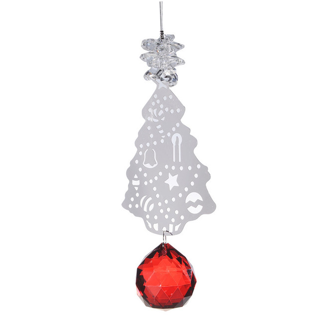 Hd 5pc 40mm red crystal ball metal christmas tree chandelier part hd 5pc 40mm red crystal ball metal christmas tree chandelier part prism hanging pendants suncatcher home aloadofball Gallery