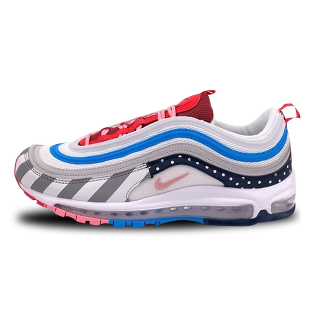 Nike Parra X Nike Air Max 97 Rainbow Park Sport Shoes Men's And Women's Running Shoes AJ3057 100 36 44
